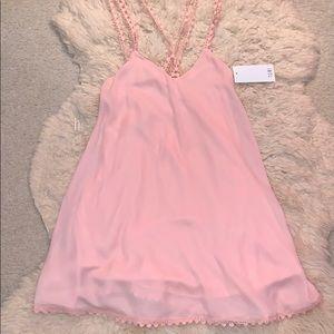 Tobi strappy back light pink dress size S - NWT